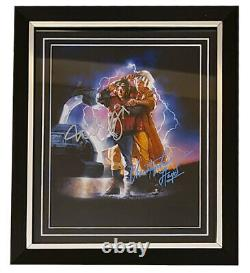 Michael J Fox Christopher Lloyd Signed Back To The Future 10x8 Photo Autograph