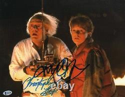 Michael J. Fox & Christopher Lloyd Signed Back To The Future 11x14 Photo Bas 1