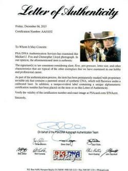 Michael J Fox Christopher Lloyd Signed Back To The Future 11x14 Photo Psa Loa E