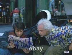 Michael J Fox Christopher Lloyd Signed Back To The Future 11x14 Photo Psa Loa J