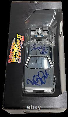 Michael J Fox Christopher Lloyd Signed Back To The Future 124 Delorean Beckett