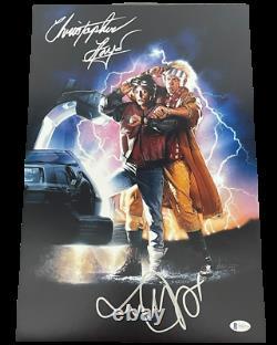 Michael J Fox Christopher Lloyd Signed Back To The Future 12x18 Photo Beckett C