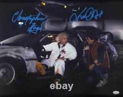 Michael J Fox/Christopher Lloyd Signed Back To The Future 16x20 Photo JSA 31700
