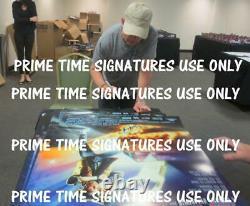 Michael J Fox Christopher Lloyd Signed Back To The Future 2 27x40 Poster Psa Loa