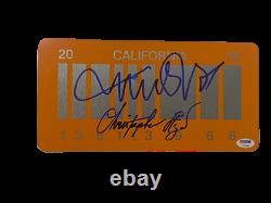 Michael J Fox Christopher Lloyd Signed Back To The Future 2 License Plate Psa