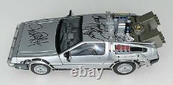Michael J. Fox Christopher Lloyd Signed Back To The Future DeLorean Time Machine