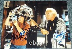 Michael J Fox Christopher Lloyd Signed Back To The Future Photo Psa/dna V04592