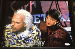 Michael J Fox Christopher Lloyd Signed Back To The Future Photo Psa/dna V13014