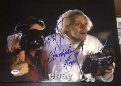 Michael J Fox Christopher Lloyd Signed Back To The Future Photo Psa/dna W08888