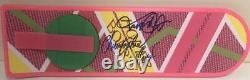 Michael J Fox Christopher Lloyd Signed Hoverboard Back To The Future Autograph