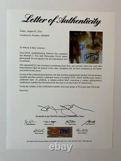 Michael J Fox Christopher Lloyd autographed 11x14 photo PSA Back to the Future