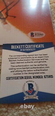 Michael J Fox Christopher Lloyd signed 11x14 Back to the Future Beckett COA