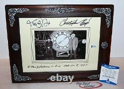 Michael J Fox Christopher Lloyd signed Back To The Future Framed Picture Beckett