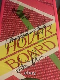 Michael J Fox Lloyd Wilson Thompson 4x Signed Back To The Future Hoverboard Bas