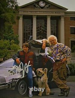 Michael J Fox Signed 10x8 Christopher Lloyd Back To The Future Photo