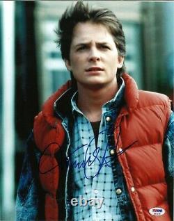 Michael J. Fox Signed Back to the Future 11x14 Photo PSA/DNA Autograph Cert BTTF