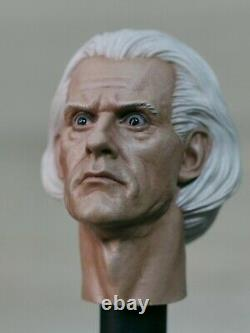 Painted/ Doctor Emmet Brown/ Christopher Lloyd/ The Back to The Future head 1/6