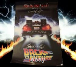 RARE Back to the Future Poster Signed By Michael J Fox Christopher Lloyd PROOF