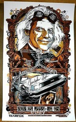 Rhys Cooper Back to the Future 1 2 3 I Print Poster SIGNED BY CHRISTOPHER LLOYD