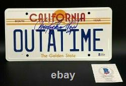 Signed Back to the Future Christopher Lloyd Movie Car License Plate Certificate