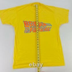 VTG 80s Back To The Future Single Stitch Screen Stars Movie T-Shirt Large